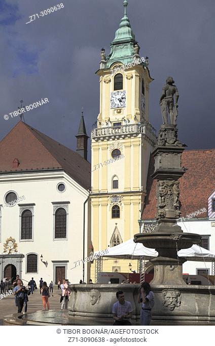 Slovakia, Bratislava, Main Square, Old Town Hall,