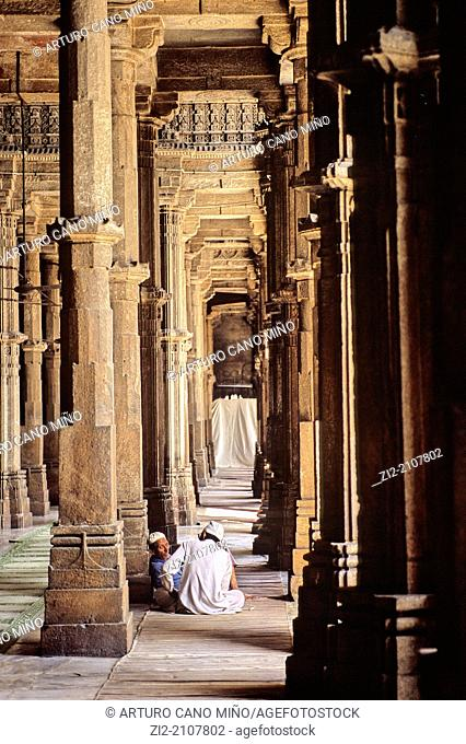 The mosque Jama Masjid meaning Friday Mosque is the main mosque of Ahmedabad, Gujarat state, India