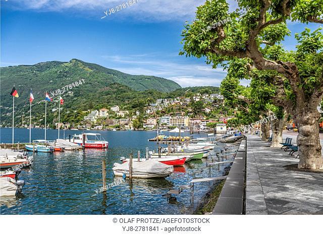 Lakefront of Ascona, Ticino, Switzerland