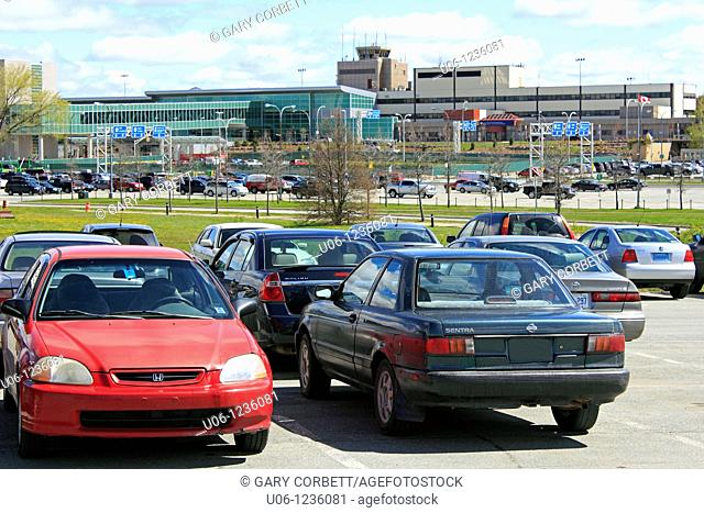 Parking lot, Halifax International Airport, Nova Scotia, Canada