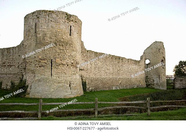 UK. England. Pevensey Castle. East Sussex