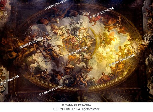 The Painted hall in the Old Royal Naval college at Greenwich, London, England