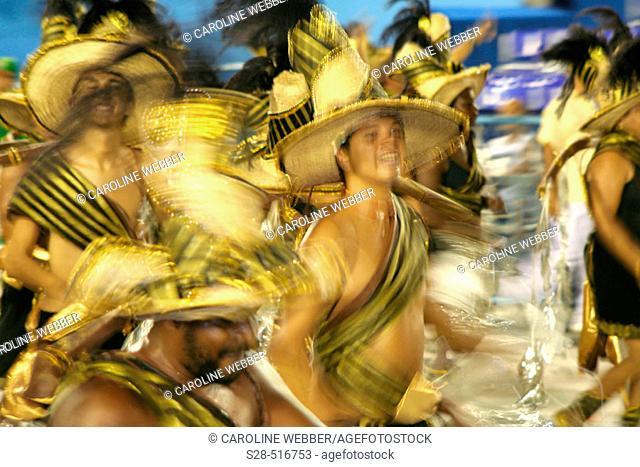 Man dancing at Carnival, Rio de Janeiro