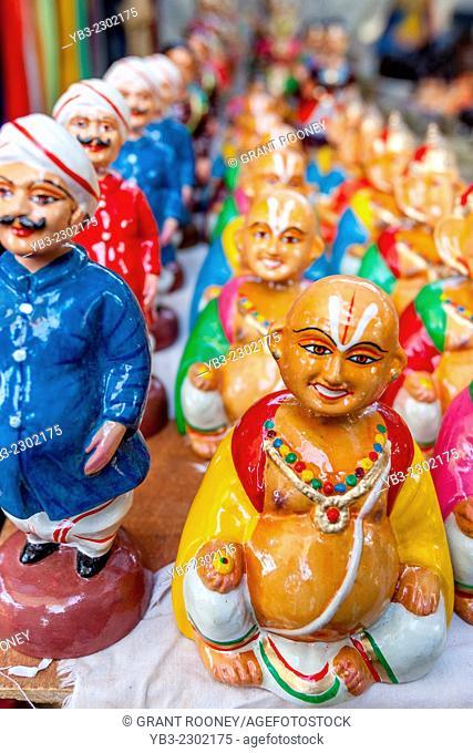 Colourful Souvenirs For Sale, Anjuna Flea Market, Anjuna, Goa, India
