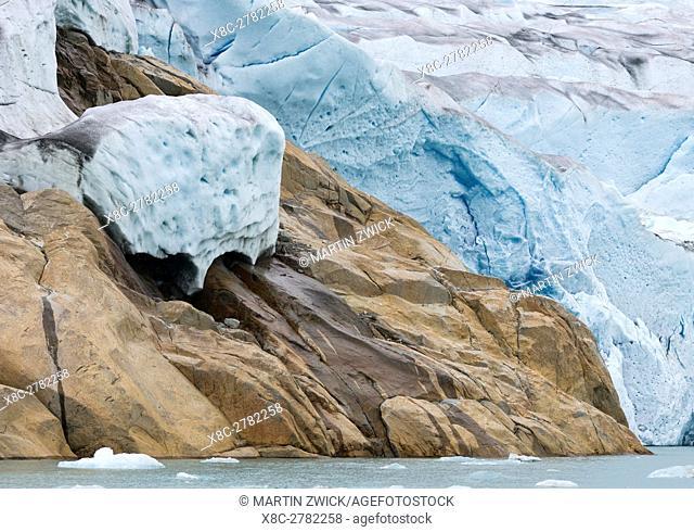 Glaciers in the Qalerallit Imaa Fjord in southern greenland. America, North America, Greenland, Denmark
