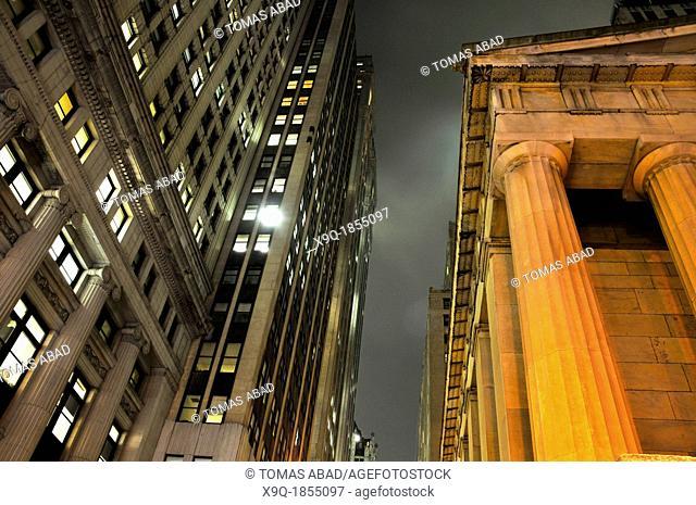 Wall Street, Financial District, Manhattan, New York City, USA