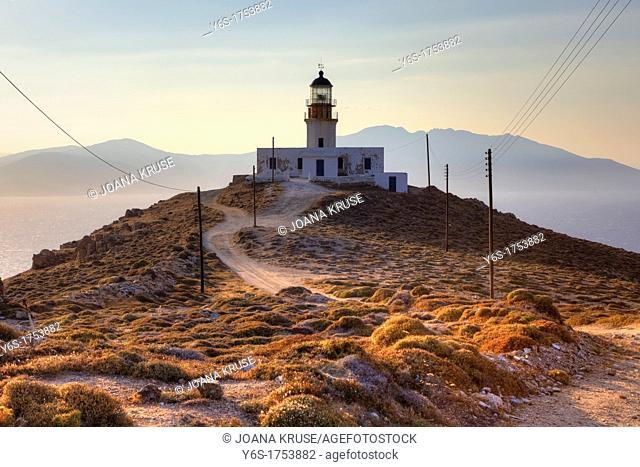 Lighthouse of Mykonos, Cape Armenistis, Greece