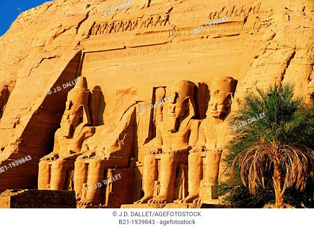Egypt-The Great Temple. The Abu Simbel temples temples in Abu Simbel (??? ???? in Arabic) in Nubia, southern Egypt. They are situated on the western bank of...