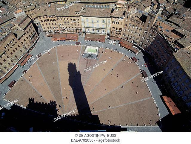 Piazza del Campo, Siena (UNESCO World Heritage List, 1995), Tuscany, Italy