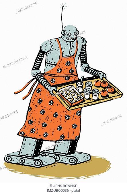 robot serving food