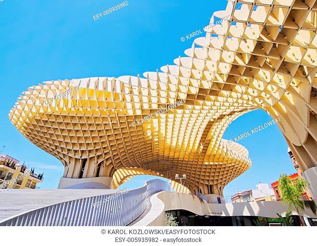 Metropol Parasol on La Encarnacion Square in Seville, Andalusia, Spain