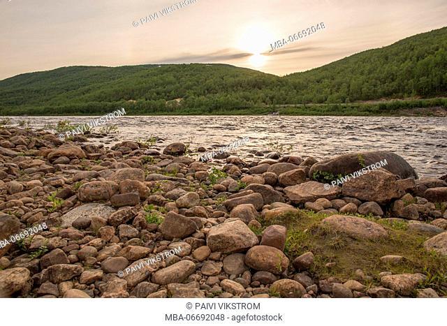 Tana River, Yläköngäs, Utsjoki, Lapland