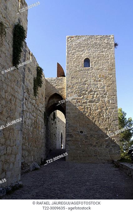 Jaén (Spain). Castle of Santa Catalina or. Alcázar Nuevo in the city of Jaén