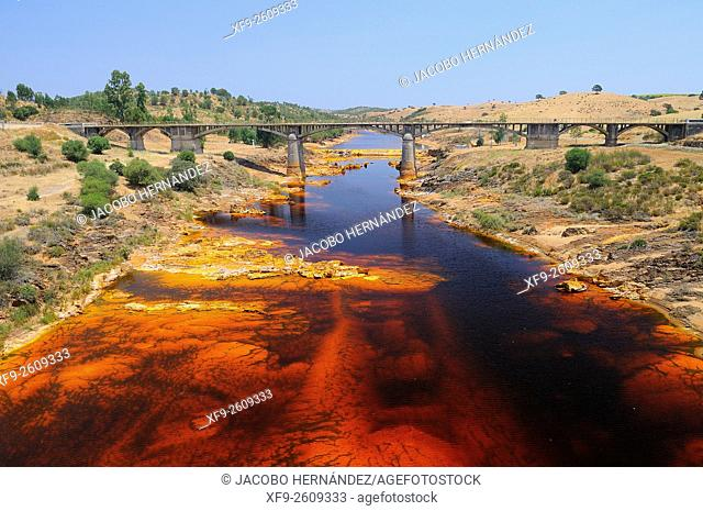 Tinto river.Huelva province.Andalusia.Spain