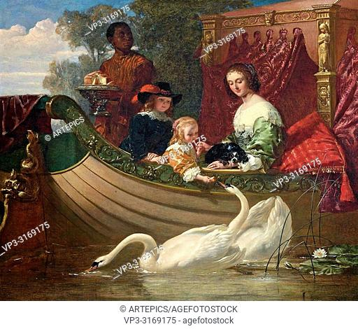 Goodall Frederick - Queen Henrietta Maria and Her Children
