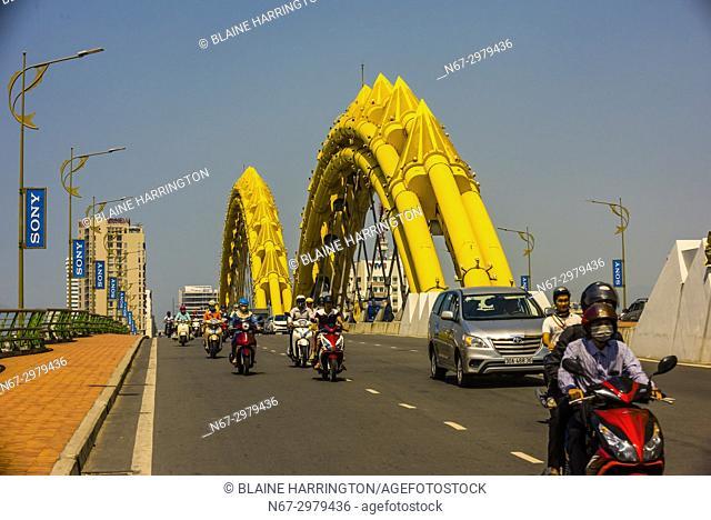 Dragon Bridge on the Han River, Danang, Vietnam