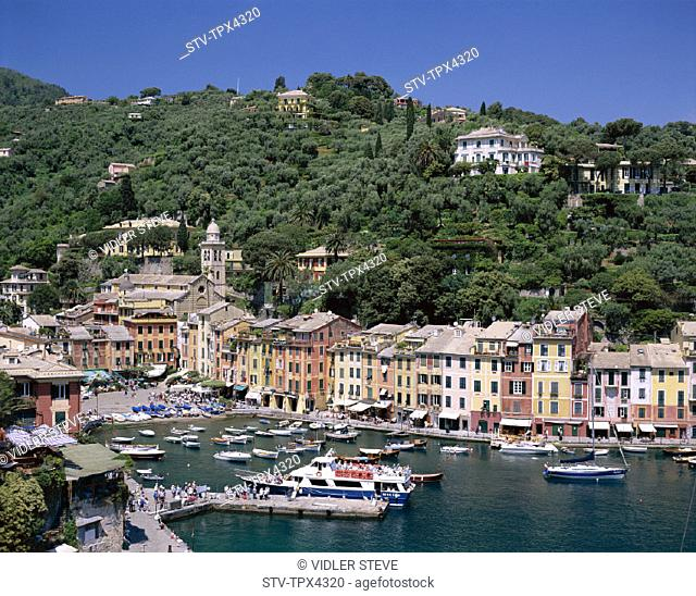Coastal, Harbour, Holiday, Italy, Europe, Landmark, Liguria, Portofino, Tourism, Travel, Vacation, View, Village, Yachts