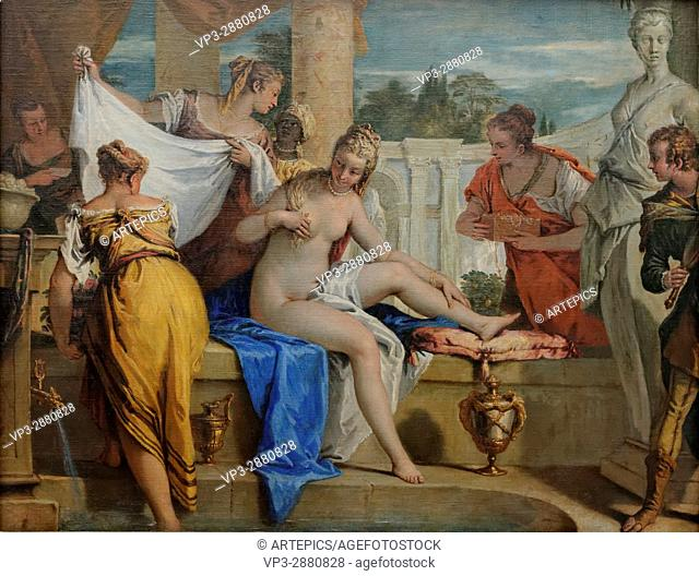 Sebastiano Ricci - Bathsheba in her bath - 1725 - XVIII th Century - Italian School - Gemäldegalerie - Berlin
