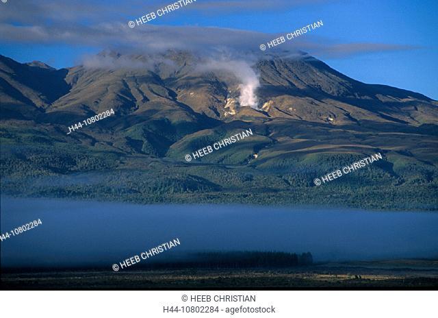 Lake Rotoaria, fog, nature, New Zealand, north island, park, scenery, landscape, smoke, Tongariro national, volcanoe