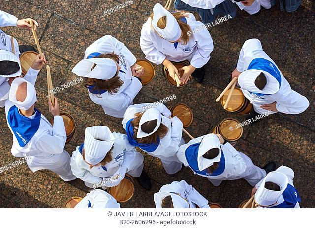 Tamborrada. Inauguration of Donostia 2016 European Capital of Culture, Donostia, San Sebastian, Basque Country, Spain