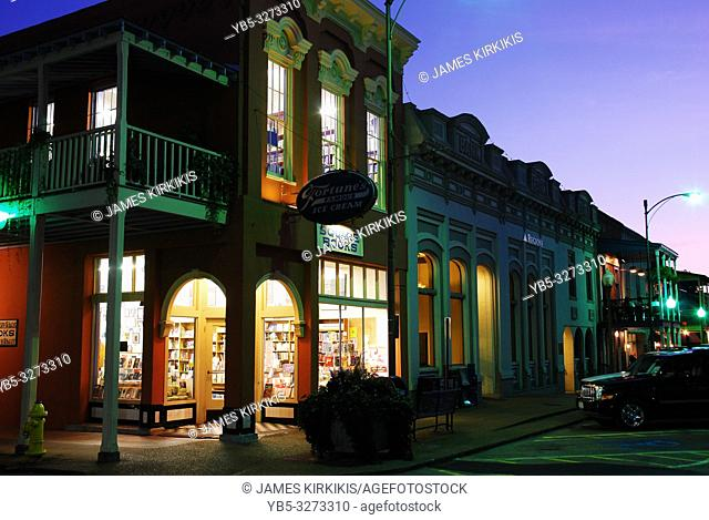 Square Books, in Oxford, Mississippi, glows on the townâ. . s square