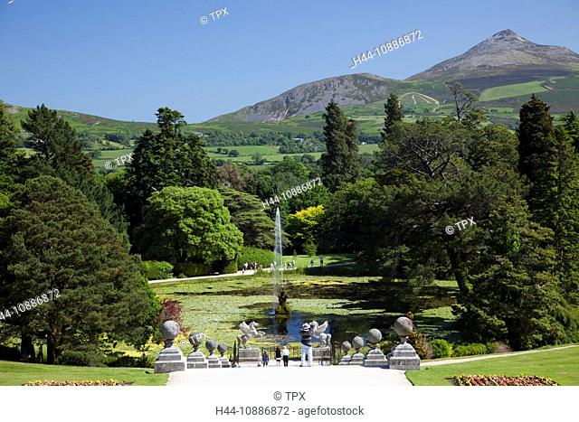 Republic of Ireland, County Wicklow, Powerscourt Gardens