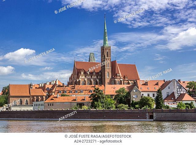 Poland, Wroclaw City, Cathedral Island, Holly Cross Church