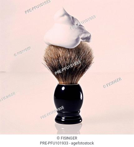 Shaving brush with foam