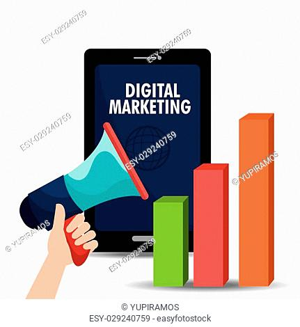 Digital and social marketing graphics, vector illustration eps 10