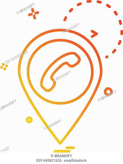 Navigation icon design vector