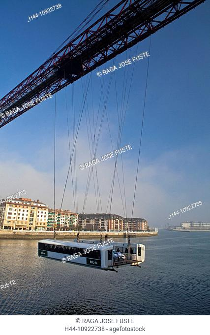 Spain, Europe, Basque Country, bridge, Portugalete, cables, crossing, traffic, ropeway, unique, eiffel, famous, first, hang, hanging, ingenious, iron, river