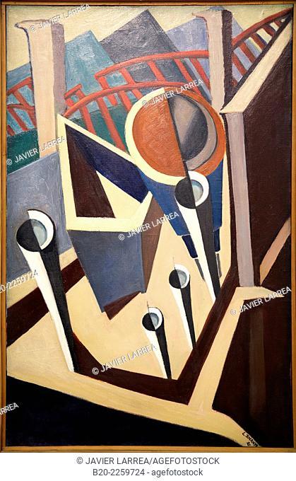 La rue de la glacire, 1925. Lajos Tihanyi. Centre George Pompidou. Musee National d'Art Moderne. Paris. France