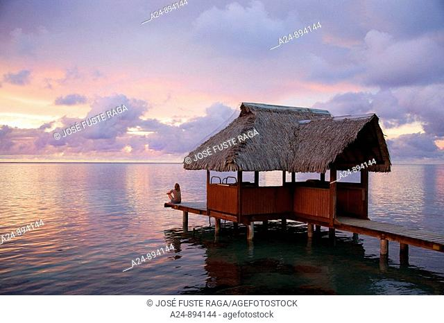Sunset, Moorea, Society Islands, French Polynesia (May, 2009)