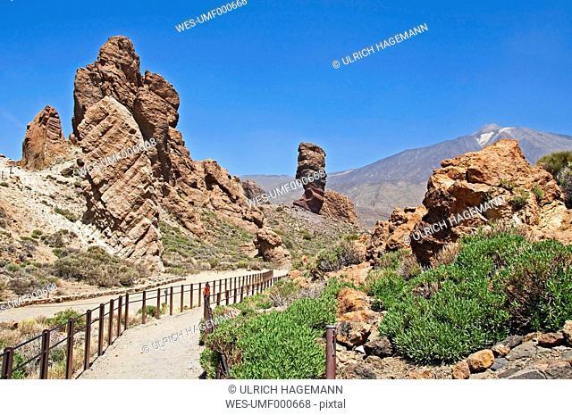 Spain, Canary Islands, Tenerife, Mount Teide, Teide National Park, Roques de Garcia