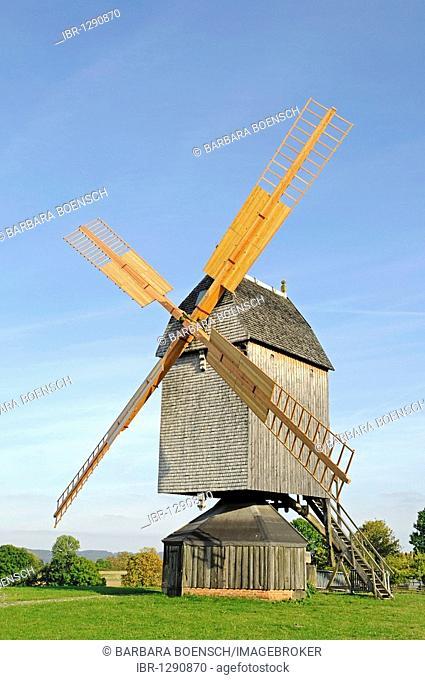 Post windmill, open-air museum, Westphalian State Museum for Ethnology, Detmold, North Rhine-Westphalia, Germany, Europe