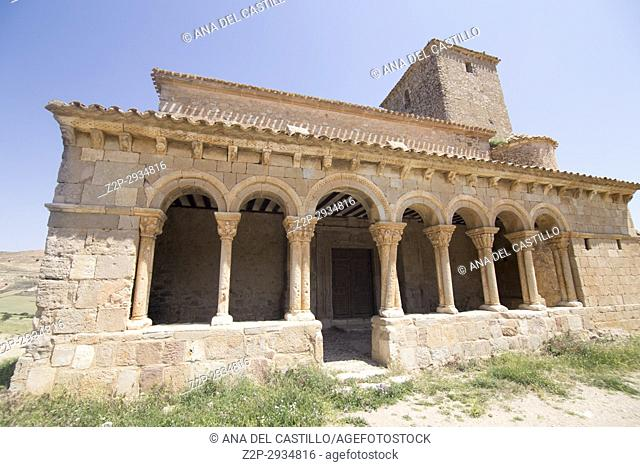 St Peters church in Caracena village in Soria province Castile Leon Spain