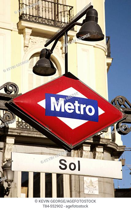Sol subway station, Puerta del Sol, Madrid. Spain
