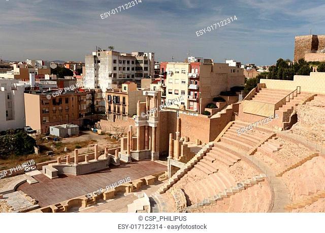 Roman Amphitheater in Cartagena, Spain