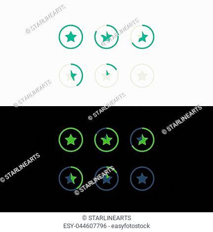 star rating symbol concept design