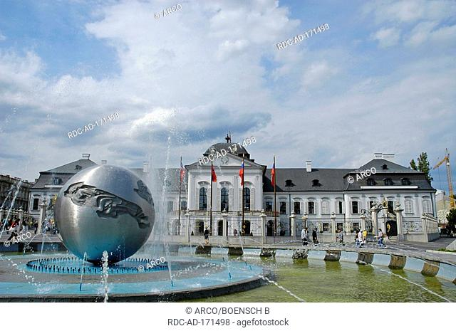 Palace of president, Bratislava, Slovakia, Grassalkovic Palais, Grasalkowicz-Palace, Pressburg