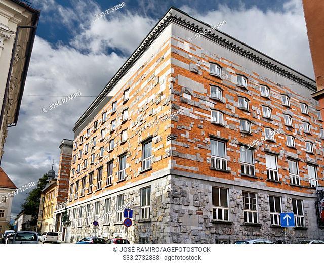 Building in Ljubljana. Slovenia. Europe