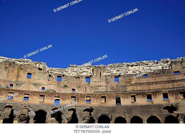 Coliseum against clear sky