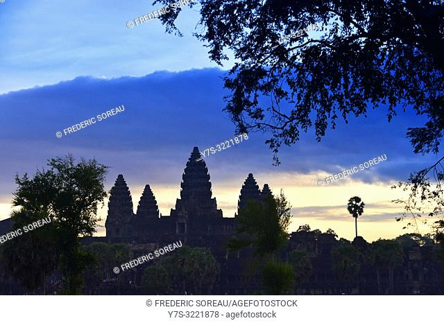 Angkor Wat temple at dusk,Cambodia,South east Asia