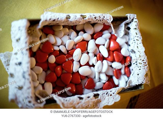 Sugared almond sweets, marriage
