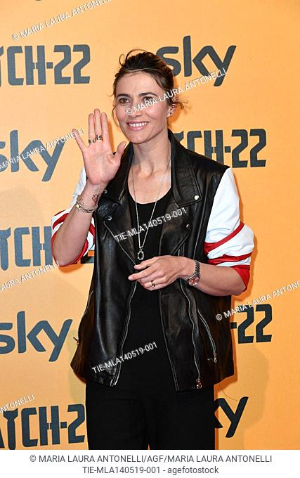 Anna Foglietta during the Red carpet for the Premiere of film tv Catch-22, Rome, ITALY-13-05-2019