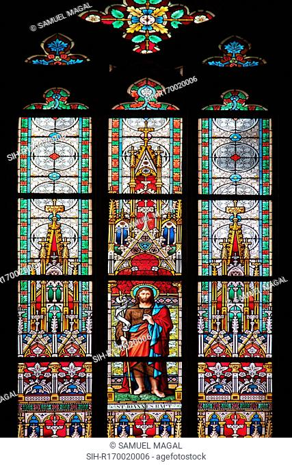 Prague, St. Vitus Cathedral, Stained Glass Window, St. John the Baptist