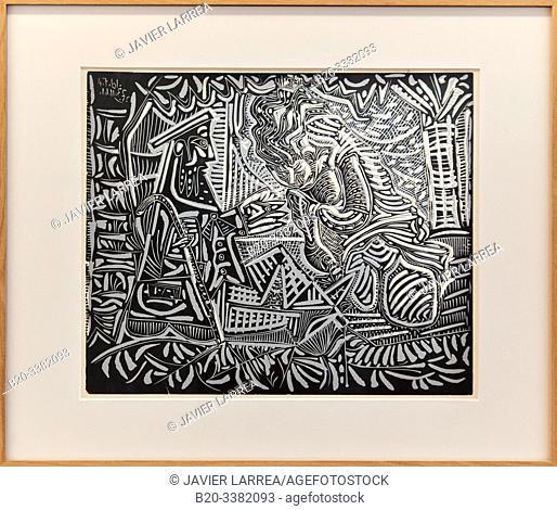 """""""Variation sur """"Le Dejeuner sur l'herbe"""" de Manet"""", 1961, Pablo Picasso, Picasso Museum, Paris, France, Europe"""