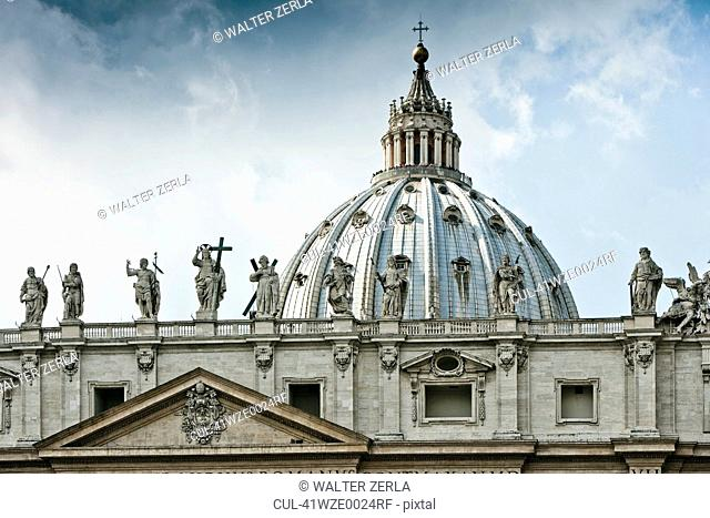 Statues of St Peters Square in Rome