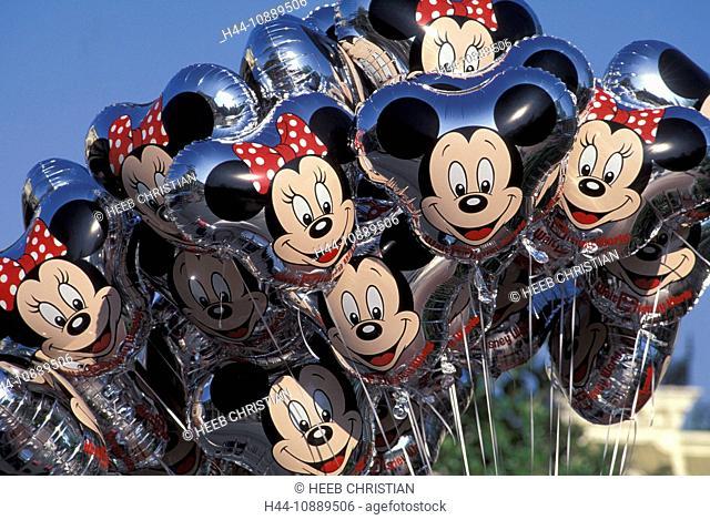 Balloons, Magic Kingdom, Walt Disney World, Orlando, Florida, USA, United States, America, Mickes Mouse