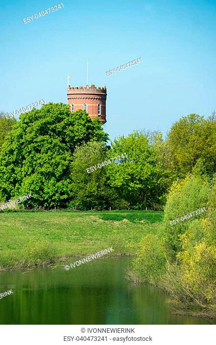Old water tower in Zaltbommel at Holland